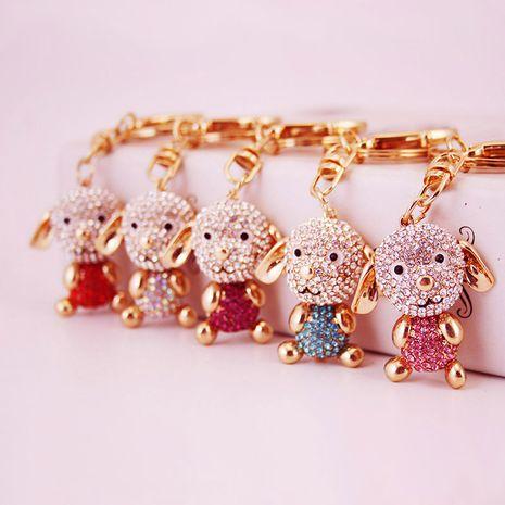 cute diamond long ear puppy keychain  NHAK282275's discount tags