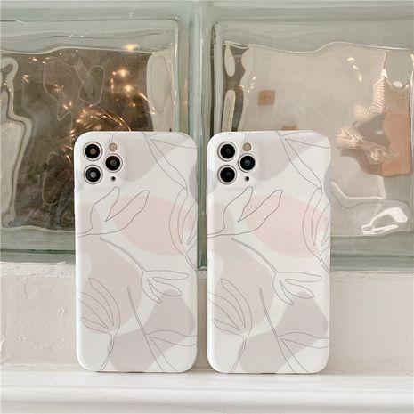 Étui pour téléphone portable Leaf iPhone12Pro max pour Apple 11 se2 coque souple liquide X 8plus NHFI282313's discount tags