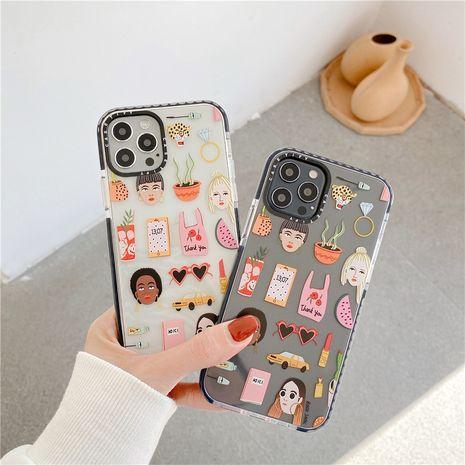 Étui pour téléphone portable Funny Girl Apple 12mini 11pro Max pour étui souple iPhonex XR SE2 7 8p NHFI282326's discount tags