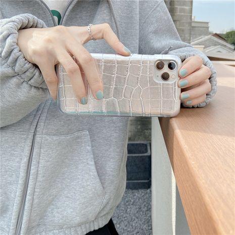 étui pour téléphone portable Apple XS XR se2 motif crocodile argenté 12mini 11proMax pour iPhone8 NHFI282329's discount tags
