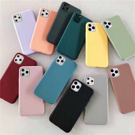 Coque souple en TPU simple couleur pure Apple 11 Coque de téléphone portable iPhonexsmax 8plus NHFI282346's discount tags