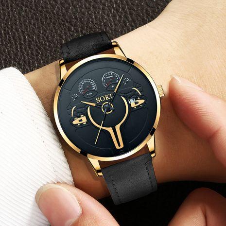 reloj de pulsera de cuarzo con cinturón de pu de moda NHSS282359's discount tags