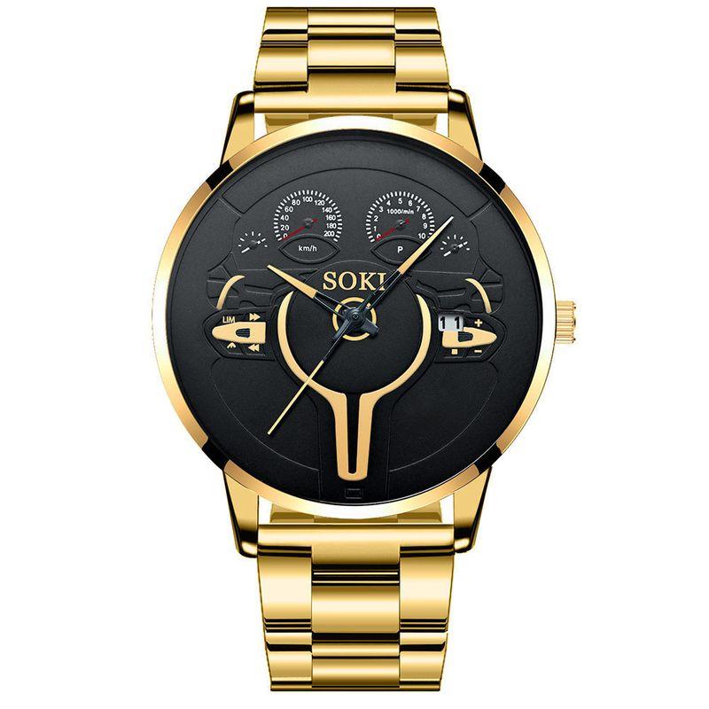 steel band simple fashion quartz watch NHSS282361