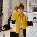cute long knit pocket thick woolen scarf NHCM282375