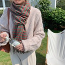 retro color matching plaid scarf  NHCM282380