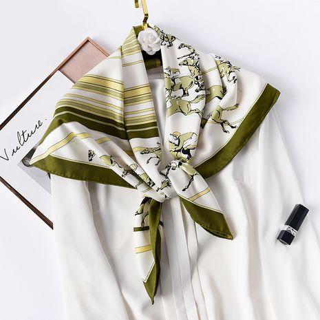 Foulard en soie à rayures assorties NHCJ282388's discount tags