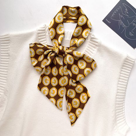 foulard en soie à imprimé lettre NHCJ282405's discount tags