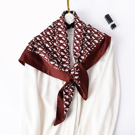 foulard carré en soie avec impression de lettre de mode NHCJ282407's discount tags