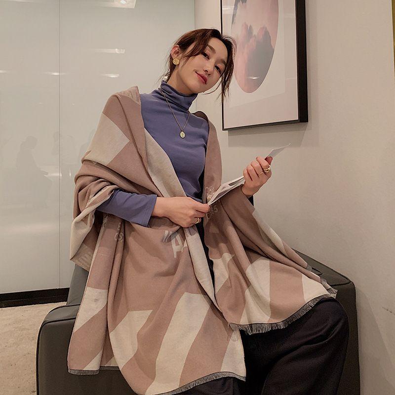 long fashion letter printing imitation cashmere scarf NHCJ282411