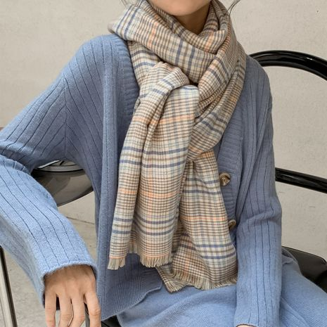 houndstooth British plaid scarf NHCJ282428's discount tags