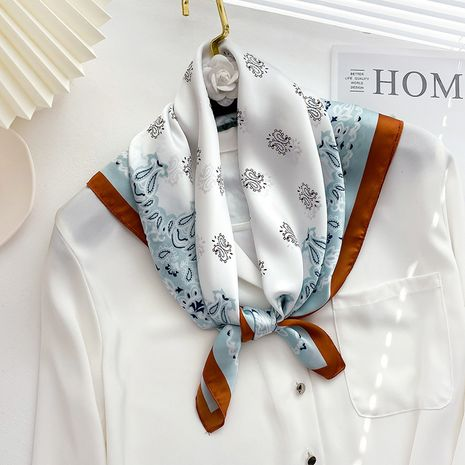carrée en soie à la mode rétro fleur de cajou NHCJ282429's discount tags
