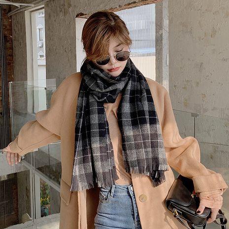 color matching plaid imitation cashmere fashion scarf  NHCJ282430's discount tags