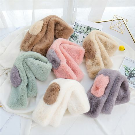 Winter bib shawl scarf plush bib imitation fox fur collar  NHCM282462's discount tags