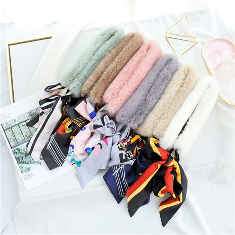 imitation rex rabbit fur collar plush scarf  NHCM282464's discount tags