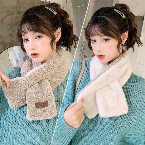 linda chica bufanda de lana de cordero de color puro coreano babero largo fino bufanda suave para estudiantes NHCM282472's discount tags