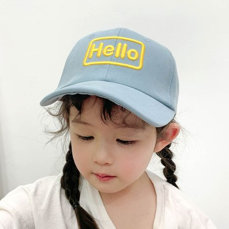 children's embroidery sunscreen cute letter baseball cap NHCM282498's discount tags