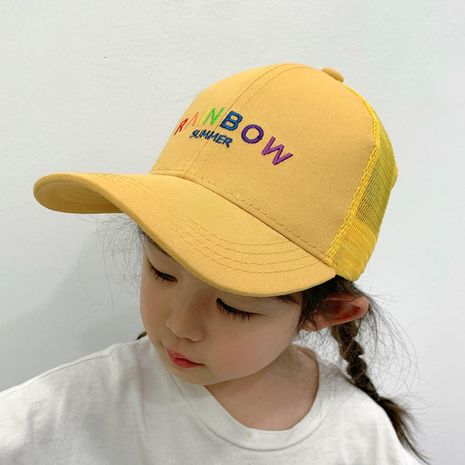 children's embroidery letter baseball cap NHCM282509's discount tags