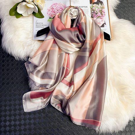 hit color stripes plaid fashion silk scarf  NHCJ282567's discount tags