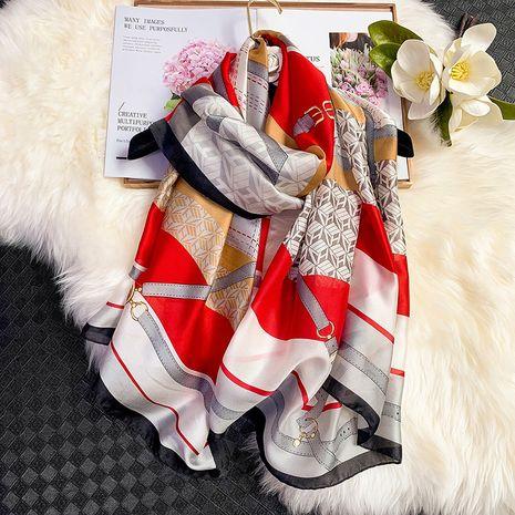 foulard en soie de mode d'impression NHCJ282575's discount tags