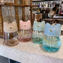 cute fashion gradient color cat shape glass water cup NHtn282595