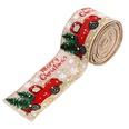 NHHB1264788-Car-Christmas-tree-ribbon-hemp-color-(one-5-mete