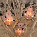 Christmas wooden luminous pendant Santa Claus tree pendant NHMV282643