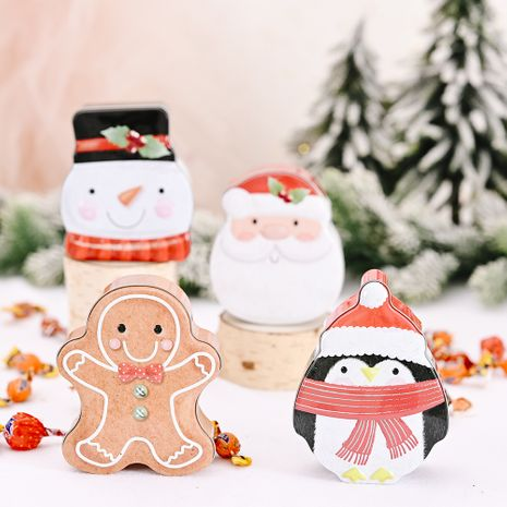 Cartoon Tinplate Box Creative Old Man Snowman Small Box  NHHB282659's discount tags
