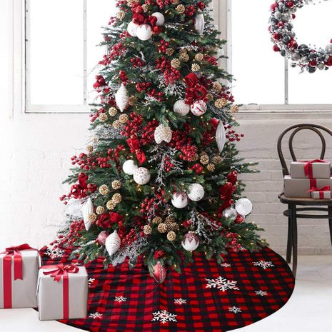 Christmas lattice snowflake tree skirt  NHHB282661's discount tags