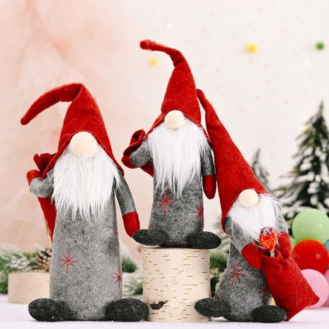 Christmas decorations straight body old man  faceless doll  NHHB282669's discount tags