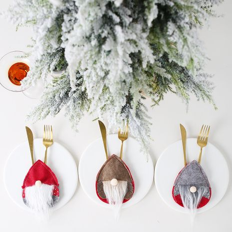 New Santa Cutlery Set Nordic Egg-shaped  Faceless Baby Cutlery Set NHHB282671's discount tags