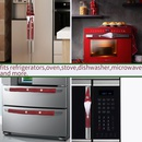 Forest elderly linen gloves Refrigerator Microwave Protective Cover Decoration 8piece set NHHB282673