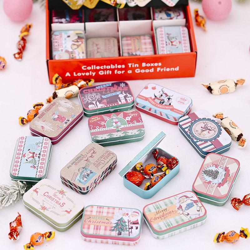 Boxed Rectangular Tinplate Box Creative Children's Gift Box Biscuit Box Candy Jar NHHB282690