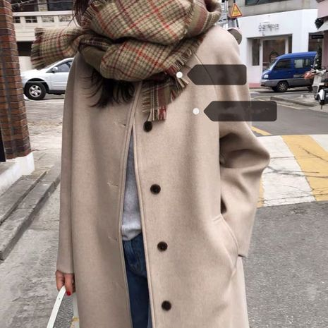 color matching fringe plaid double-sided scarf NHCJ282427's discount tags