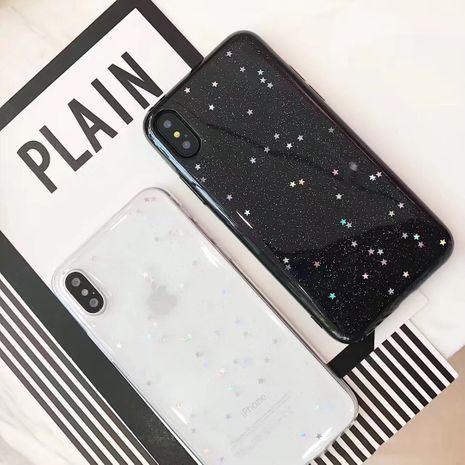 Étui de téléphone simple étoile brillante noire brillante pour XSMAX 8Plus Housse de protection Étui en silicone souple tout compris 7PXR NHFI282343's discount tags