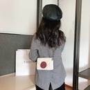 Korean new  rhombic embroidery thread shoulder bag  NHRU282713