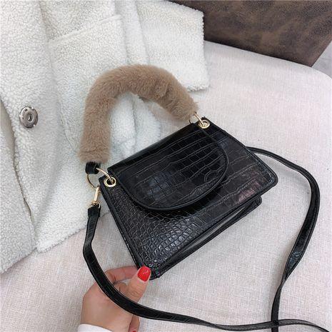 new  retro fashion simple crocodile pattern portable small square bag  NHRU282708's discount tags