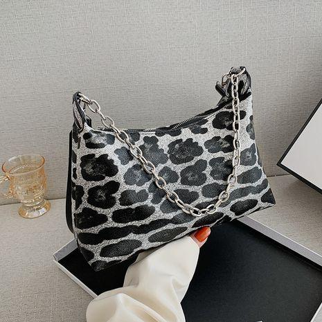 new  leopard print  trendy fashion simple  shoulder bag NHRU282741's discount tags