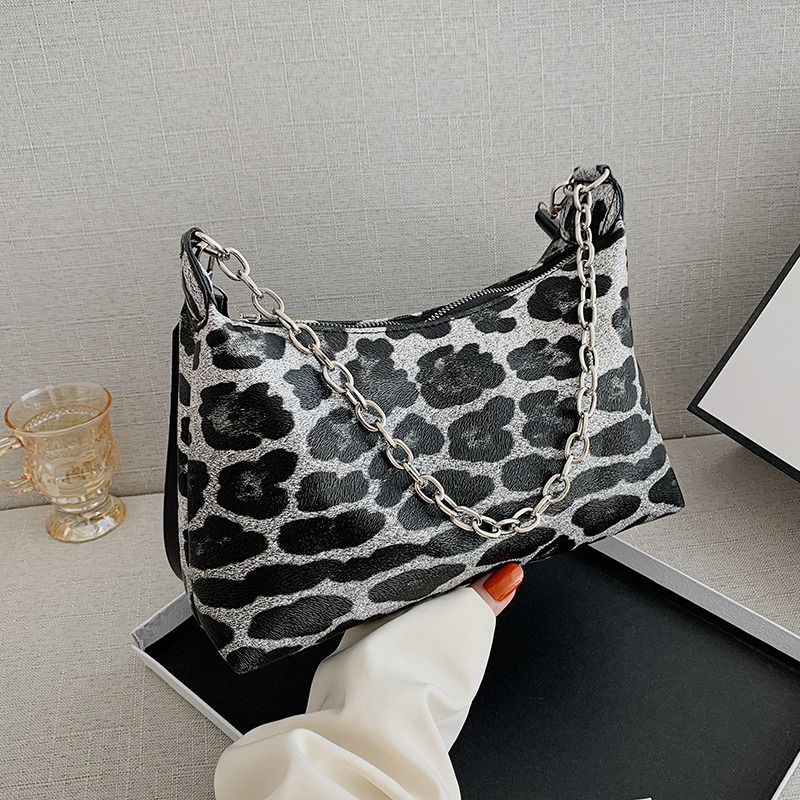 new  leopard print  trendy fashion simple  shoulder bag NHRU282741