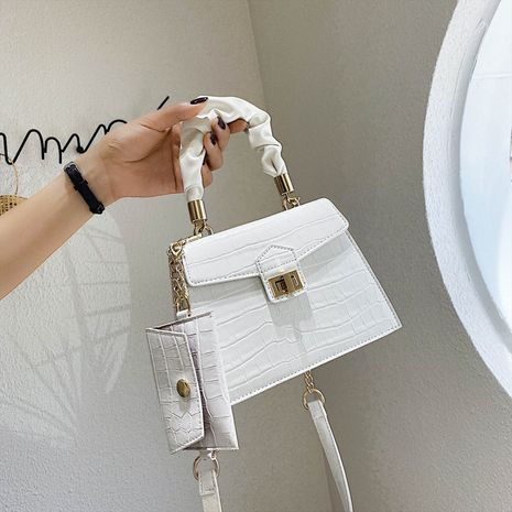 Fashion  new all-match  stone pattern chain shoulder bag NHJZ282898's discount tags