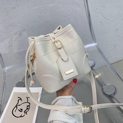 new pu  wild color matching shoulder messenger bag  NHJZ282901's discount tags