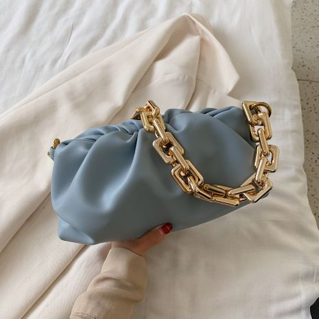 new Korean  chain fold cloud bag portable shoulder armpit bag  NHJZ282903's discount tags