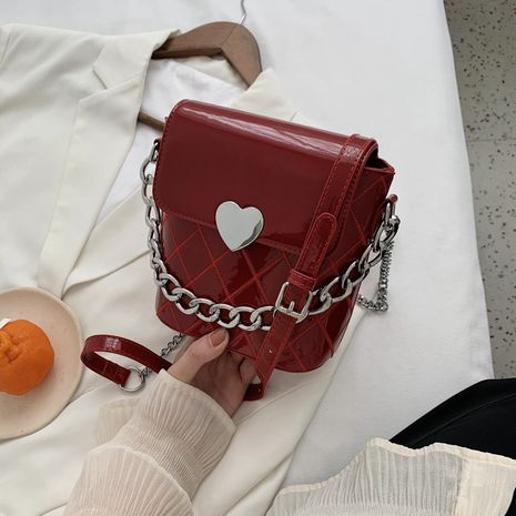 Patent leather shiny small bag NHJZ282938's discount tags