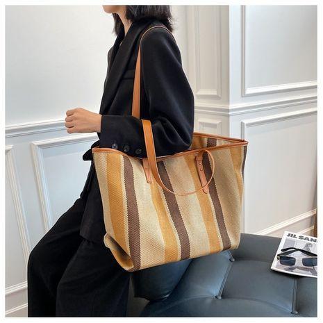 Lässige New Fashion gestreifte One-Shoulder-Einkaufstasche NHGA282973's discount tags