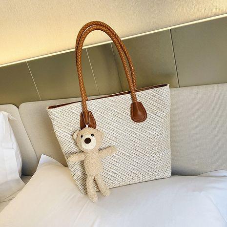 neue koreanische Mode Strohsack große Kapazität Einkaufstasche NHGA283055's discount tags