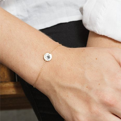 Bracelet animal à lettres double face en acier inoxydable 316L NHTF282189's discount tags