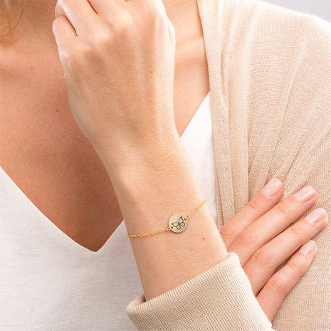 bracelet ajustable en acier inoxydable avec lettrage animal NHTF282188's discount tags