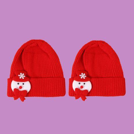 Children's core-spun yarn pointed Christmas hat red wild warm boy Korean fashion  hat  NHTQ267134's discount tags