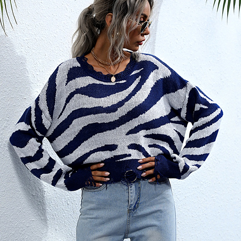 new loose round neck all-match sweater NHEK284589