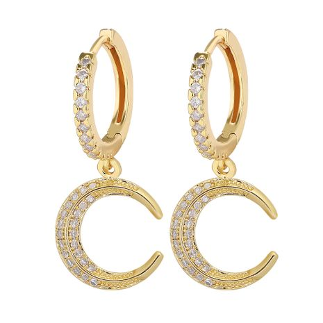 moon copper inlaid zirconium exquisite earrings NHJQ283081's discount tags