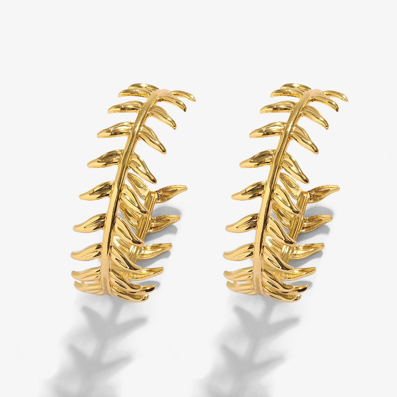 retro exaggerated fashion C-shaped earrings  NHJQ283086